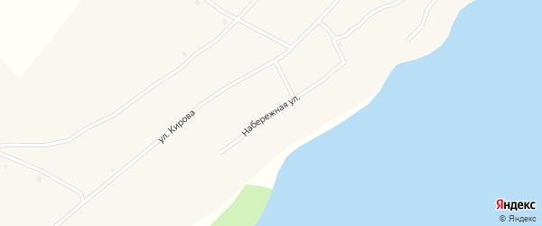 Набережная улица на карте села Крестьянки с номерами домов