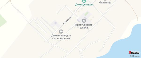 Школьная улица на карте села Крестьянки с номерами домов