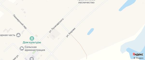 Улица Кирова на карте села Крестьянки с номерами домов