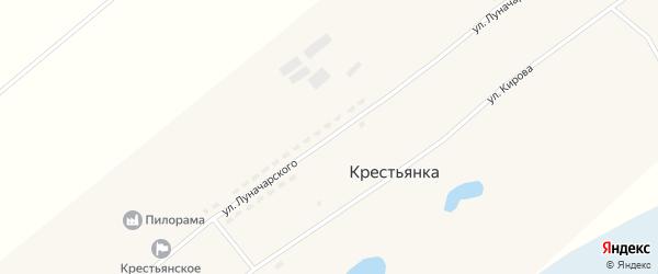 Улица Луначарского на карте села Крестьянки с номерами домов