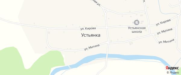 Ближний переулок на карте села Устьянки с номерами домов