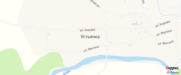 Подгорный переулок на карте села Устьянки с номерами домов