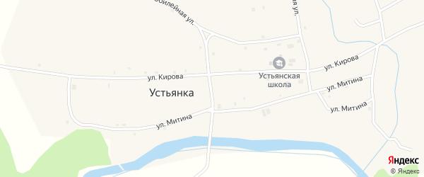 Безымянный переулок на карте села Устьянки с номерами домов