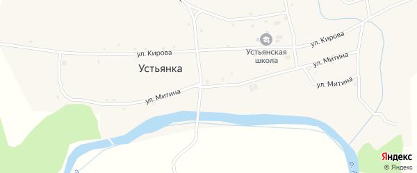 Улица Митина на карте села Устьянки с номерами домов