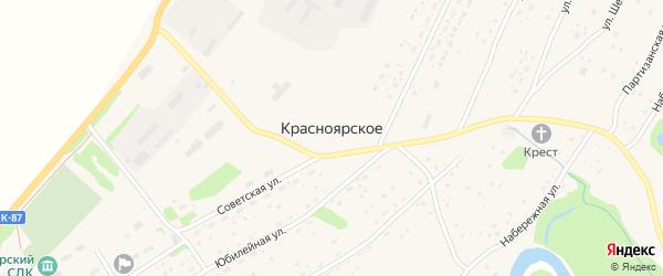 Береговая улица на карте Красноярского села с номерами домов