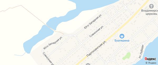 Северная улица на карте села Мамонтово с номерами домов