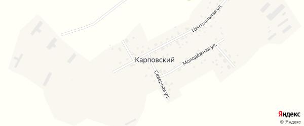 Северная улица на карте Карповского поселка с номерами домов