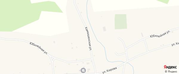 Камышенская улица на карте села Устьянки с номерами домов