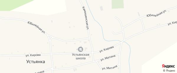 Юбилейная улица на карте села Устьянки с номерами домов