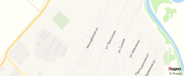 Молодежная улица на карте Красноярского села с номерами домов