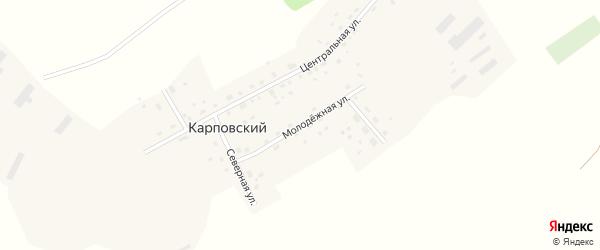Молодёжная улица на карте Карповского поселка с номерами домов