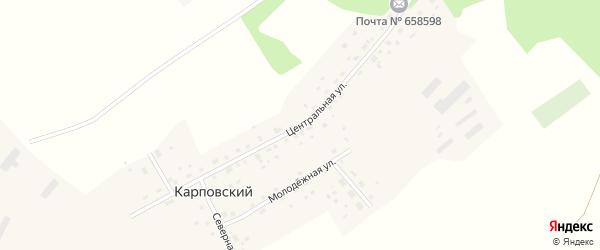 Центральная улица на карте Карповского поселка с номерами домов