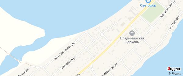 Юго-Западная улица на карте села Мамонтово с номерами домов