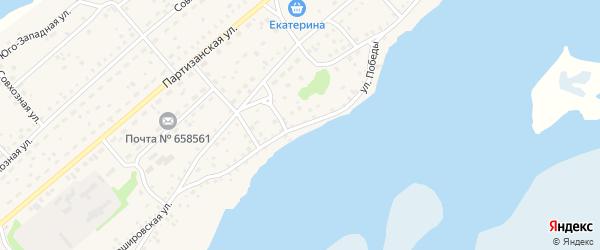 Улица Победы на карте села Мамонтово с номерами домов