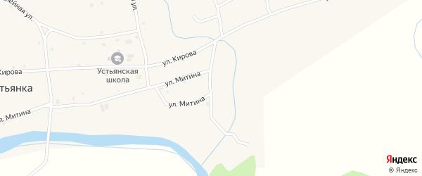 Сибирский переулок на карте села Устьянки с номерами домов
