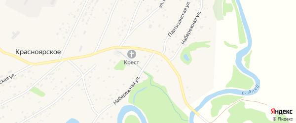 Набережная улица на карте Красноярского села с номерами домов