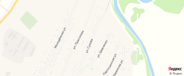 Улица Сухова на карте Красноярского села с номерами домов