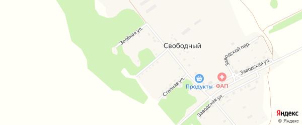 Дубравная улица на карте Свободного поселка с номерами домов