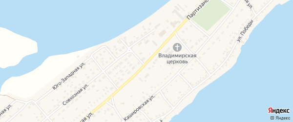 Партизанская улица на карте села Мамонтово с номерами домов