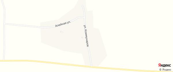 Улица Коммунаров на карте села Устьянки с номерами домов