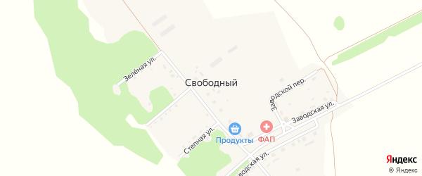 Центральная улица на карте Свободного поселка с номерами домов