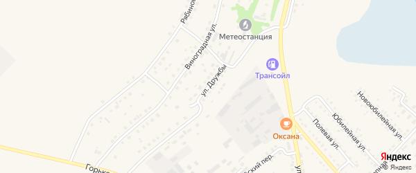 Улица Дружбы на карте села Мамонтово с номерами домов