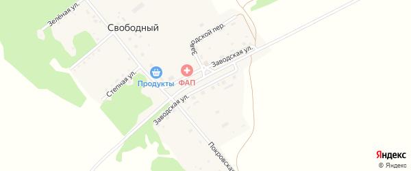 Заводская улица на карте Свободного поселка с номерами домов