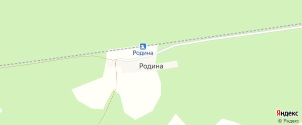 Путейская улица на карте разъезда Родина с номерами домов