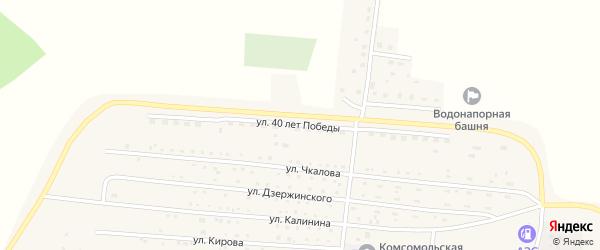 Улица 40 лет Победы на карте Комсомольского поселка с номерами домов
