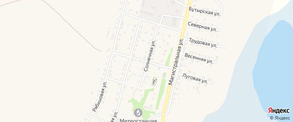 Солнечная улица на карте села Мамонтово с номерами домов
