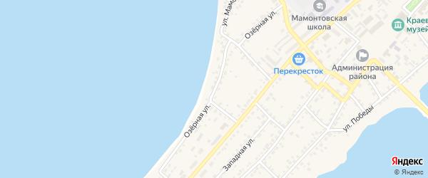 Озёрная улица на карте села Мамонтово с номерами домов