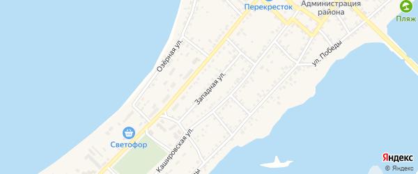 Западная улица на карте села Мамонтово с номерами домов