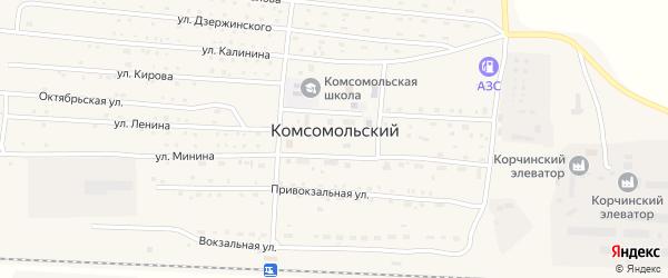 Конечный переулок на карте Комсомольского поселка с номерами домов