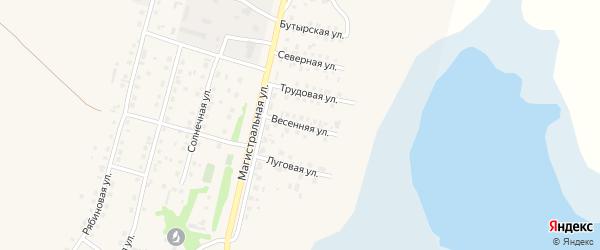 Весенняя улица на карте села Мамонтово с номерами домов