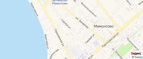 Садовая улица на карте села Мамонтово с номерами домов