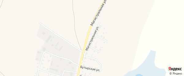 Магистральная улица на карте села Мамонтово с номерами домов