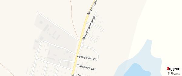 1-я Промышленная улица на карте села Мамонтово с номерами домов