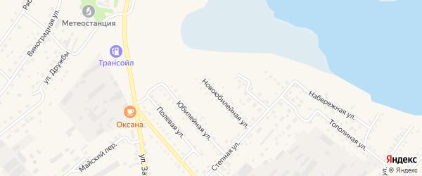 Ново-Юбилейная улица на карте села Мамонтово с номерами домов