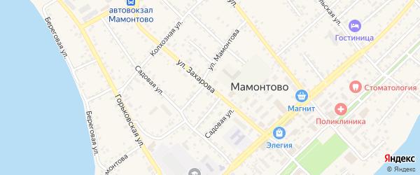 Улица Захарова на карте села Мамонтово с номерами домов