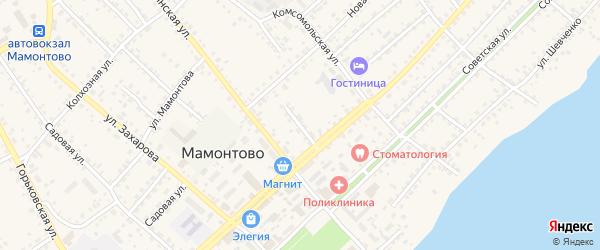 Цветочный переулок на карте села Мамонтово с номерами домов