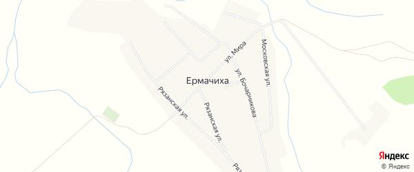 Карта села Ермачихи в Алтайском крае с улицами и номерами домов