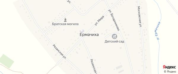 Центральная улица на карте села Ермачихи с номерами домов