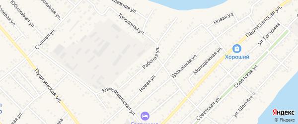 Рабочая улица на карте села Мамонтово с номерами домов