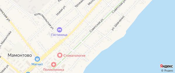 Советская улица на карте села Мамонтово с номерами домов