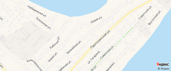 Урожайная улица на карте села Мамонтово с номерами домов