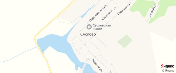 Карта села Суслово в Алтайском крае с улицами и номерами домов