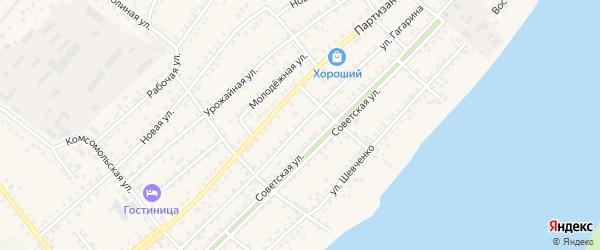 Улица Гагарина на карте села Мамонтово с номерами домов