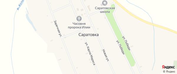 Новая улица на карте села Саратовки с номерами домов