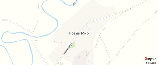 Заречная улица на карте поселка Нового Мира с номерами домов
