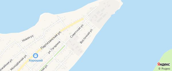 Восточная улица на карте села Мамонтово с номерами домов